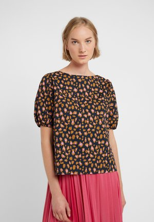 MARLENE PUFF TOP - Blouse - navy pink