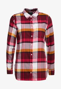 J.CREW - BOY PACEY PLAID - Button-down blouse - burgundy rose - 4