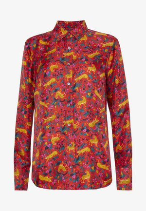 COL MAD SCIENTIST SILK - Blouse - cerise cats