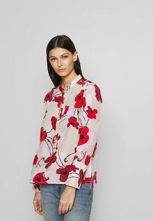 EIVISSA WELSH POPPY - Button-down blouse - natural cerise