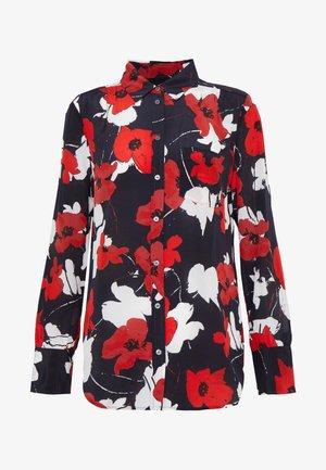ROBBIE SHIRT SILK - Blouse - navy red