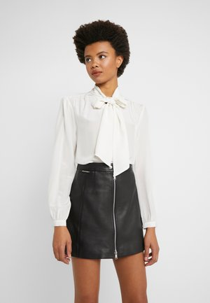 COURTNEY BOW BLOUSE - Button-down blouse - ivory
