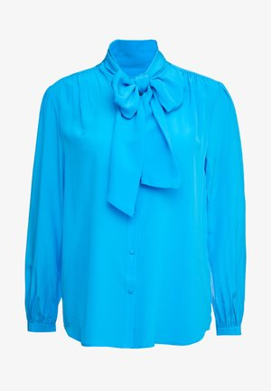 COURTNEY BOW BLOUSE - Button-down blouse - azure pool