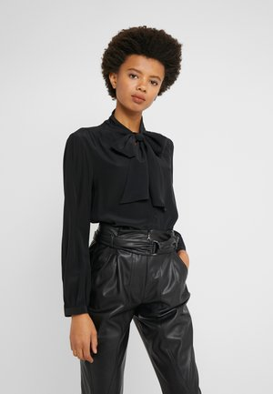 COURTNEY BOW BLOUSE - Koszula - black