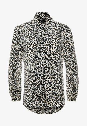 COURTNEY BOW BLOUSE LEOPARD - Bluse - natural multi