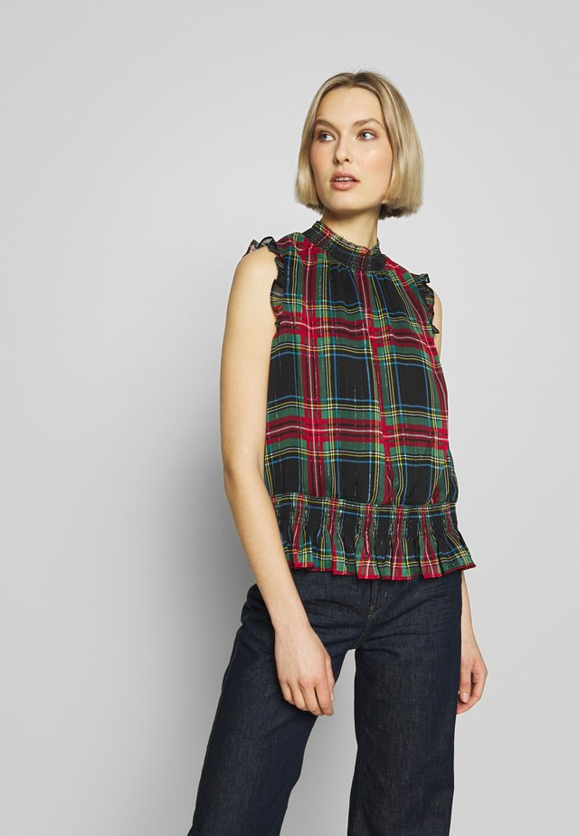 HOT IN STEWART GILDED PLAID - Blouse - red/green