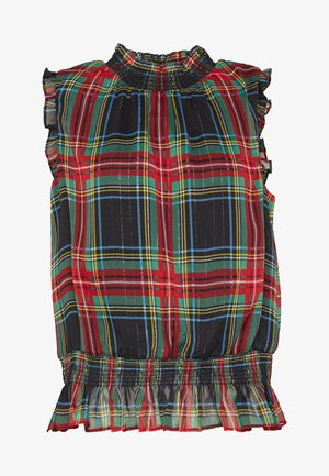HOT IN STEWART GILDED PLAID - Bluse - red/green