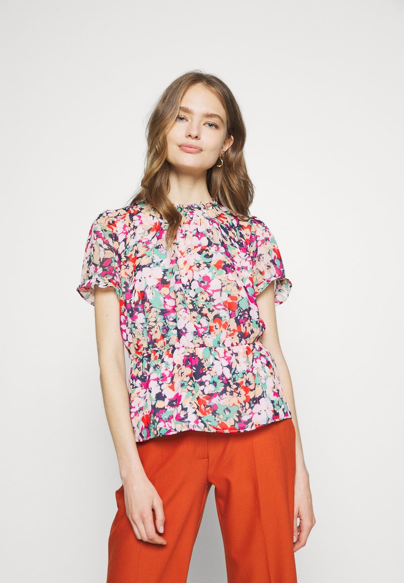 J.CREW - CRINKLE CYRANO FLORAL - Bluser - cranberry pink