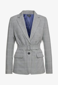 J.CREW - HARRIET BELTED - Blazer - black/blue/ivory - 5