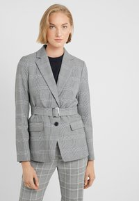 J.CREW - HARRIET BELTED - Blazer - black/blue/ivory - 0