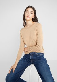 J.CREW - TIPPI CREW - Jumper - heather saddle - 4