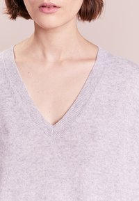 J.CREW - ROSAYLN CASHMERE SWEATER - Neule - heather dusk - 3