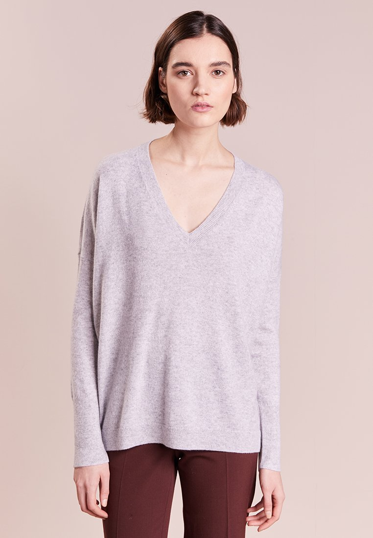 J.CREW - ROSAYLN CASHMERE SWEATER - Neule - heather dusk