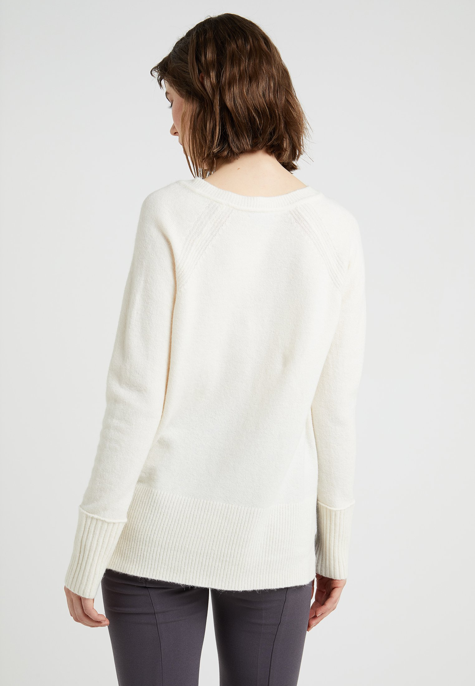 J crew neckPullover V Supersoft Natural qULSpjMVGz