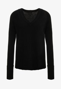 J.CREW - SUPERSOFT V-NECK - Stickad tröja - black - 4