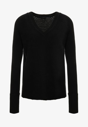 SUPERSOFT V-NECK - Strickpullover - black