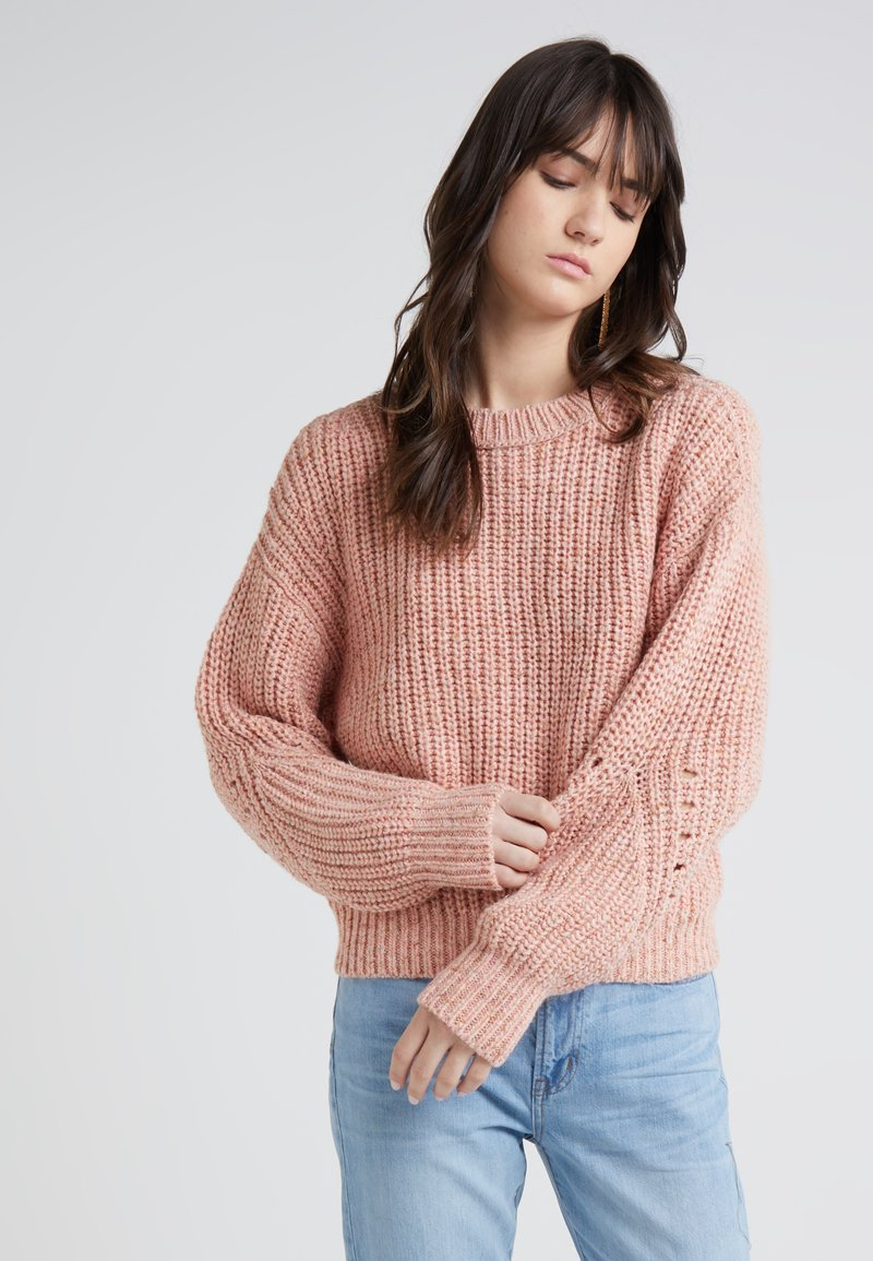 J.CREW - HAYDEN MARL CHUNKY CREW - Strickpullover - heather light coral