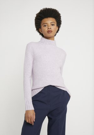 Isabel Mock Neck - Jumper - heather orchid