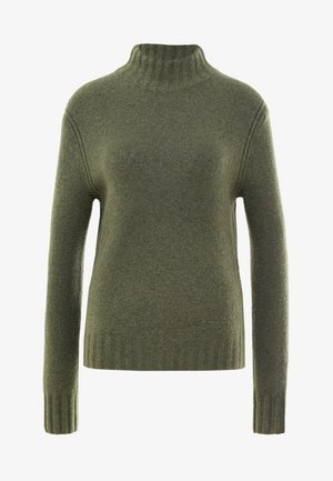 Isabel Mock Neck - Jumper - heather loden green