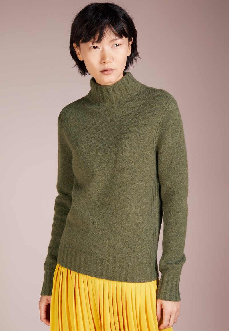J.CREW - Isabel Mock Neck - Pullover - heather loden green