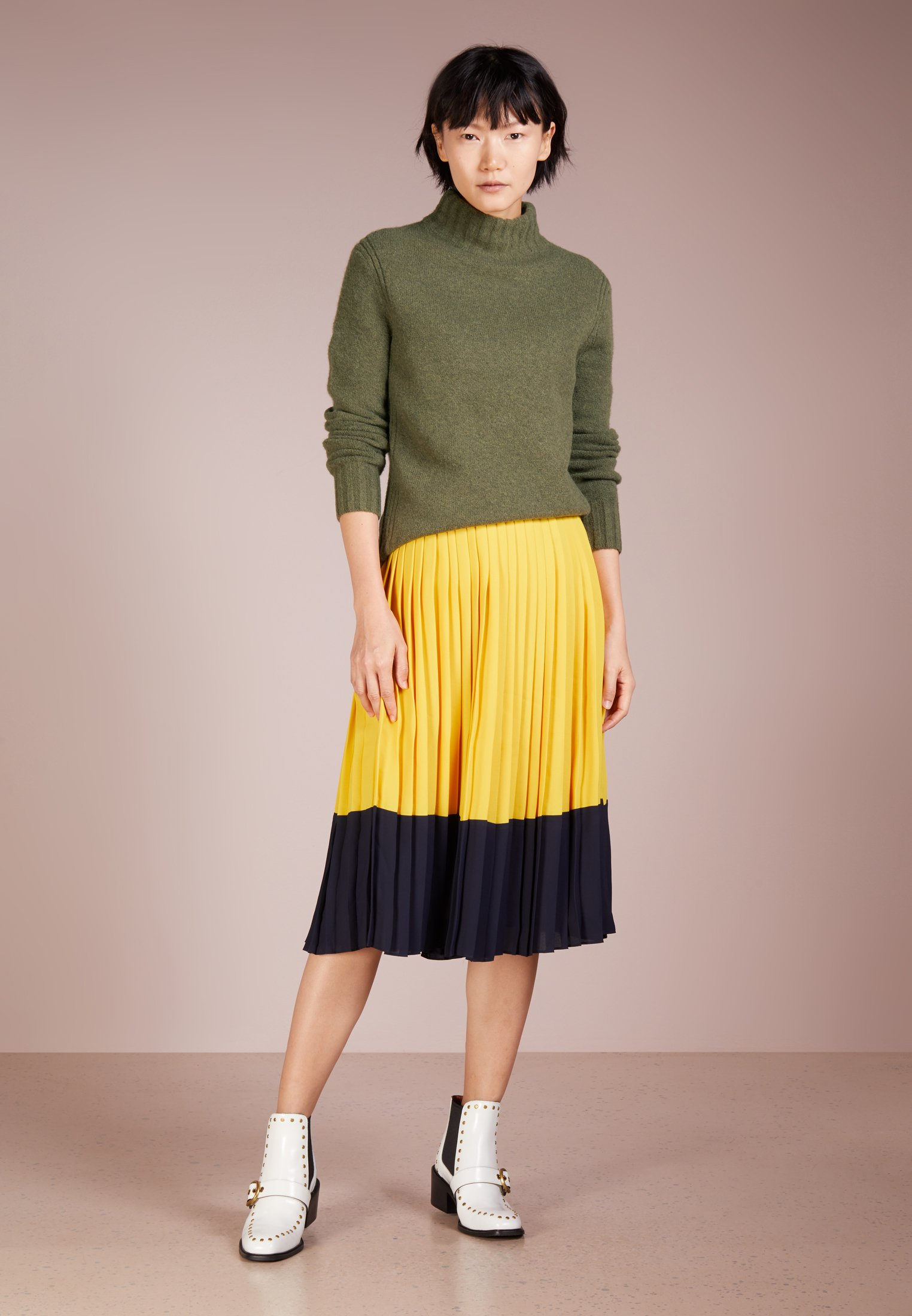 J.CREW Isabel Mock Neck - Maglione - heather loden green