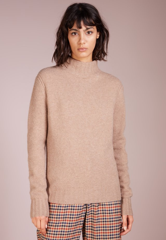 Isabel Mock Neck - Jersey de punto - heather mushroom