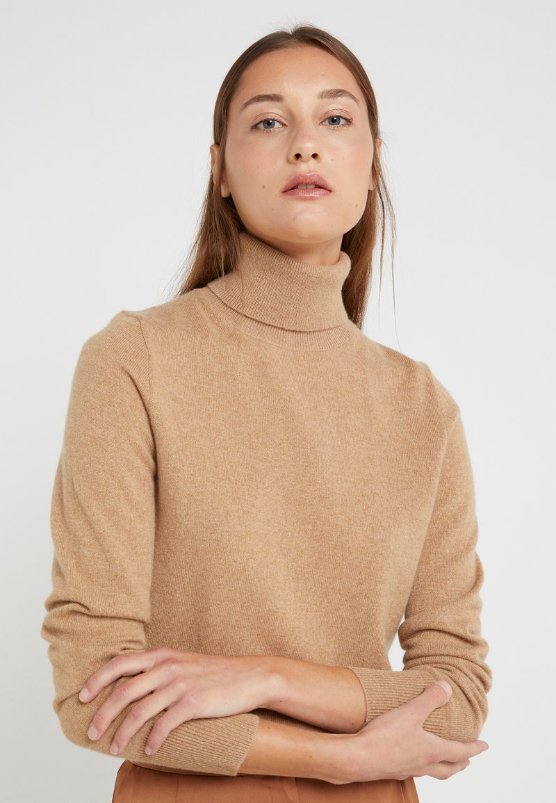J.CREW - LAYLA TURTLENECK - Svetr - heather camel