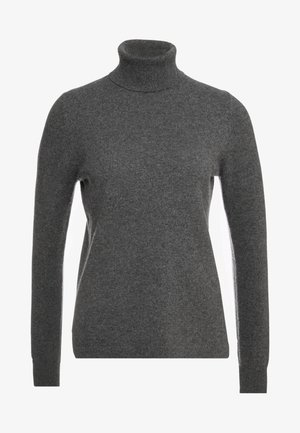 LAYLA TURTLENECK - Neule - heather coal grey