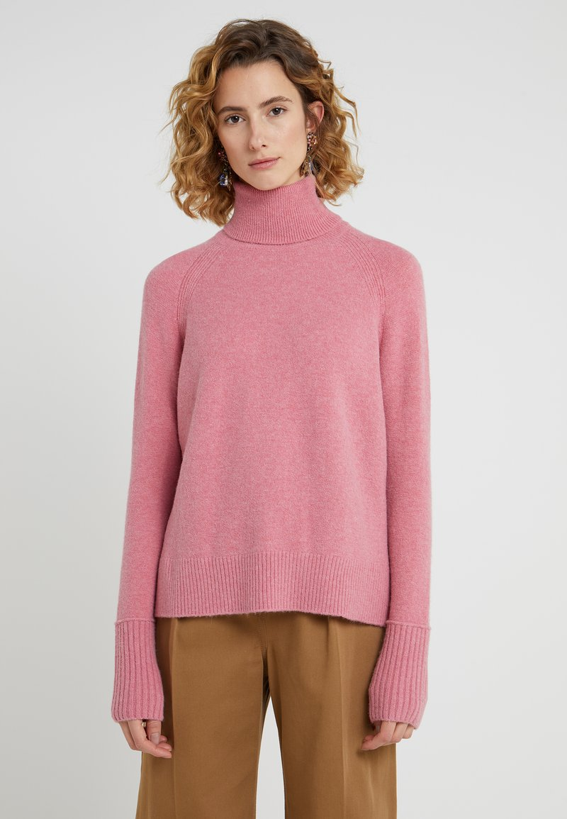 J.CREW - TURTLENECK SWEATER WITH SLITS - Strickpullover - heather guava berry