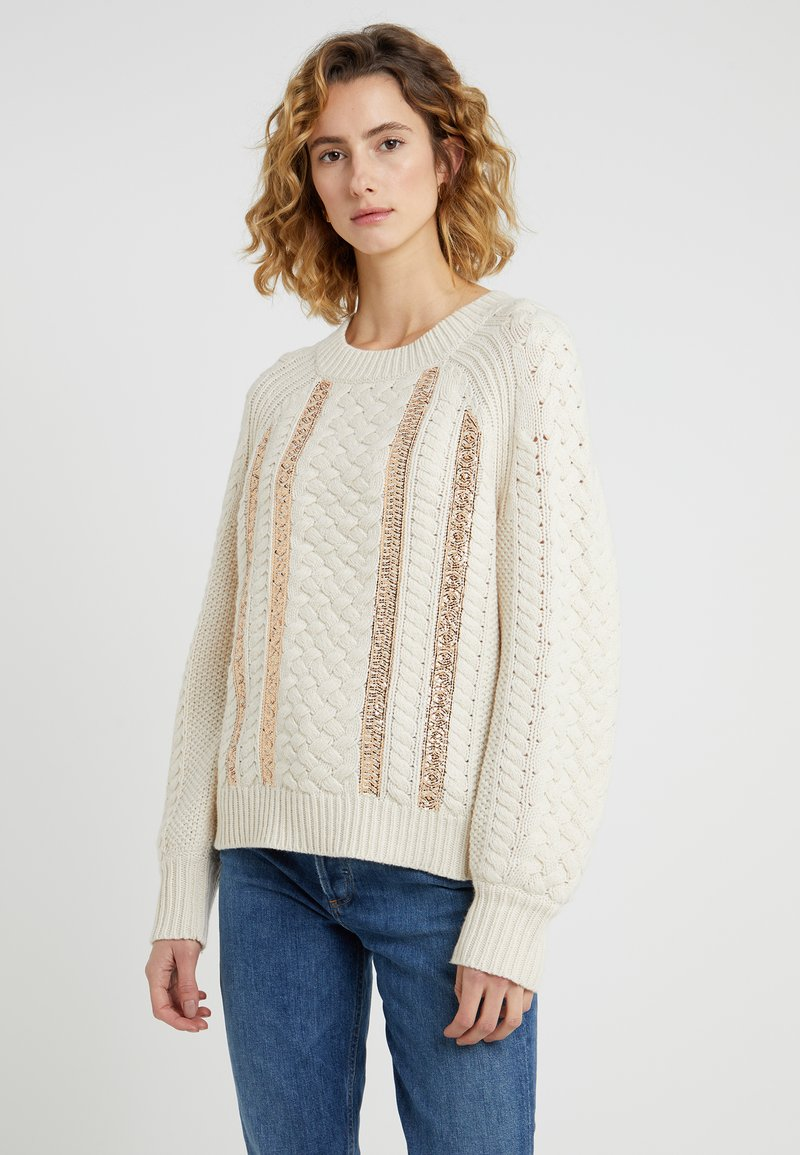 J.CREW - WRIGHT CABLE SWEATER - Strickpullover - natural