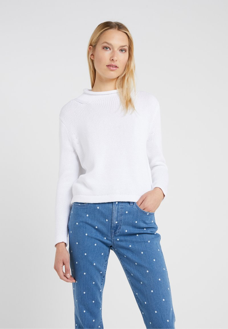 J.CREW - CROPPED HERITAGE ROLLNECK - Jumper - white