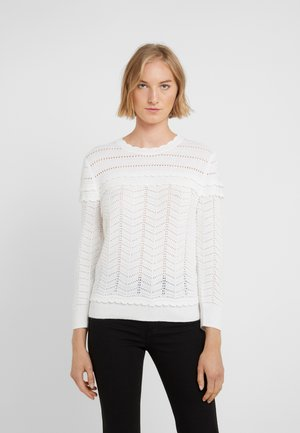 SCALLOP NECK POINTELLE CREW - Pullover - ivory
