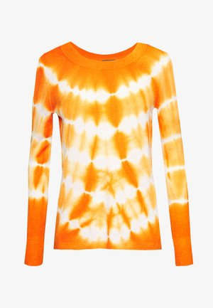 CASH TIE DYE LAYLA - Strikpullover /Striktrøjer - snow/light pumpkin