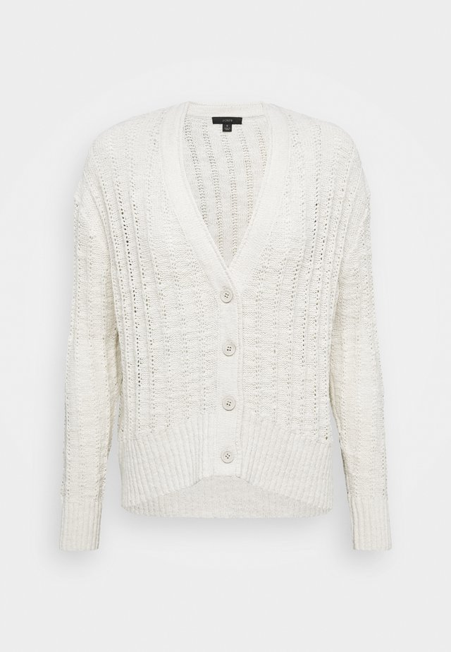 POINT SUR TEXTURED VNECK CARDIGAN - Neuletakki - natural