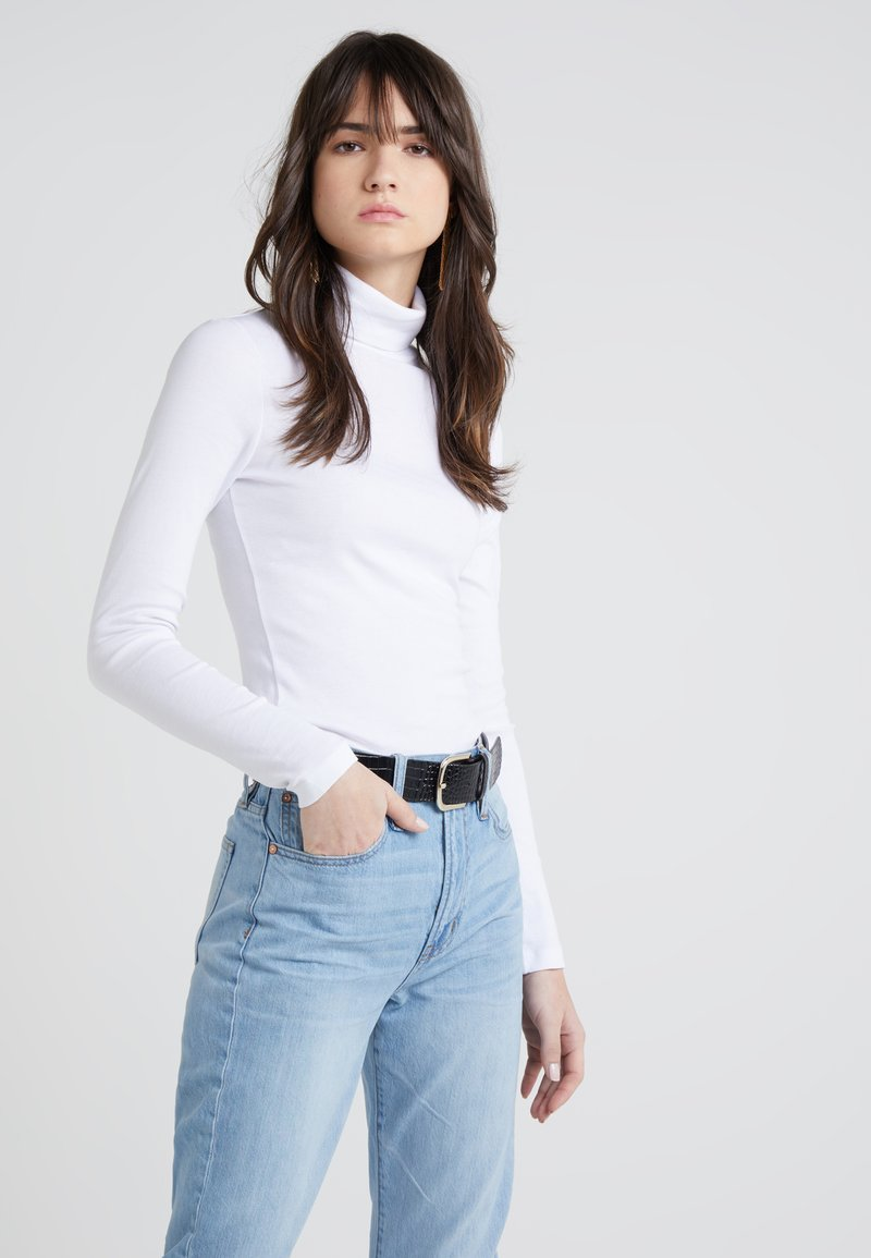 J.CREW - PERFECT FIT TURTLENECK - Long sleeved top - white