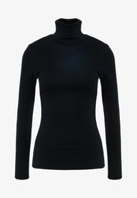 J.CREW - PERFECT FIT TURTLENECK - Topper langermet - black - 3