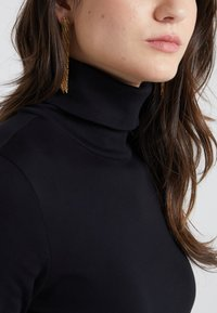 J.CREW - PERFECT FIT TURTLENECK - Topper langermet - black - 4