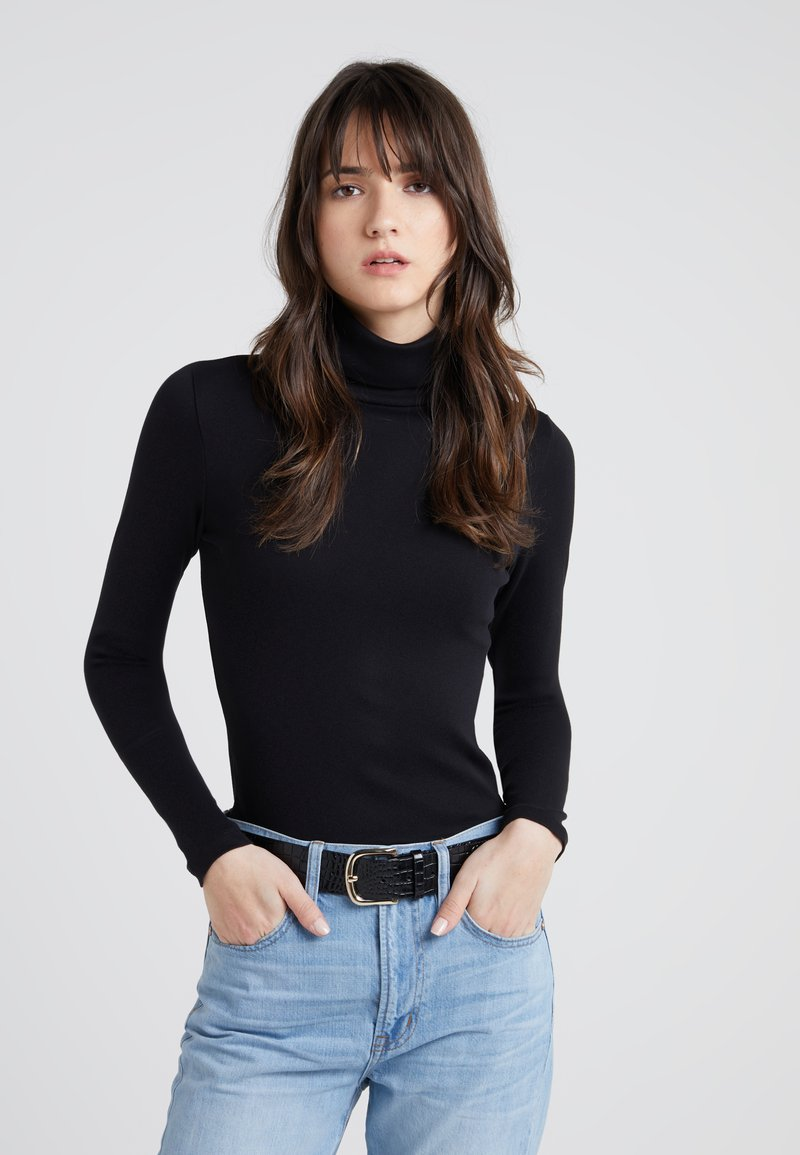 J.CREW - PERFECT FIT TURTLENECK - Topper langermet - black
