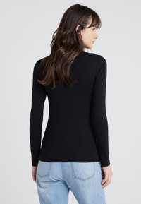 J.CREW - PERFECT FIT TURTLENECK - Topper langermet - black - 2