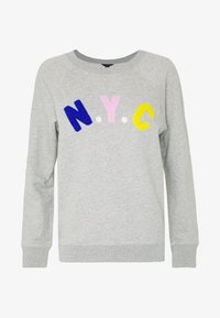 J.CREW - NYC CHENILLE EMBROIDERED - Sweatshirt - grey - 4
