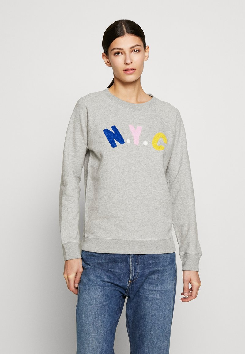 J.CREW - NYC CHENILLE EMBROIDERED - Sweatshirt - grey