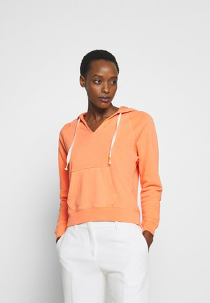 VNECK HOODIE - Sweatshirt - spicy orange