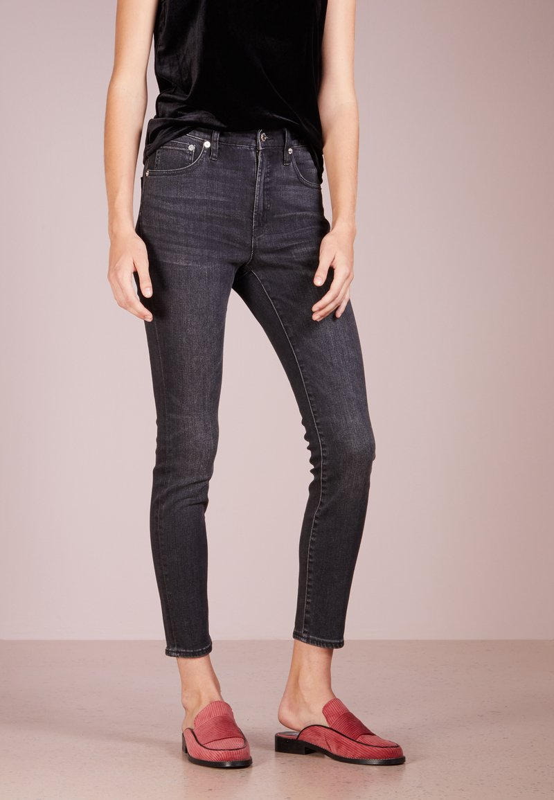 J.CREW - LOOKOUT CANDIANI PENWOOD  - Slim fit jeans - charcoal wash