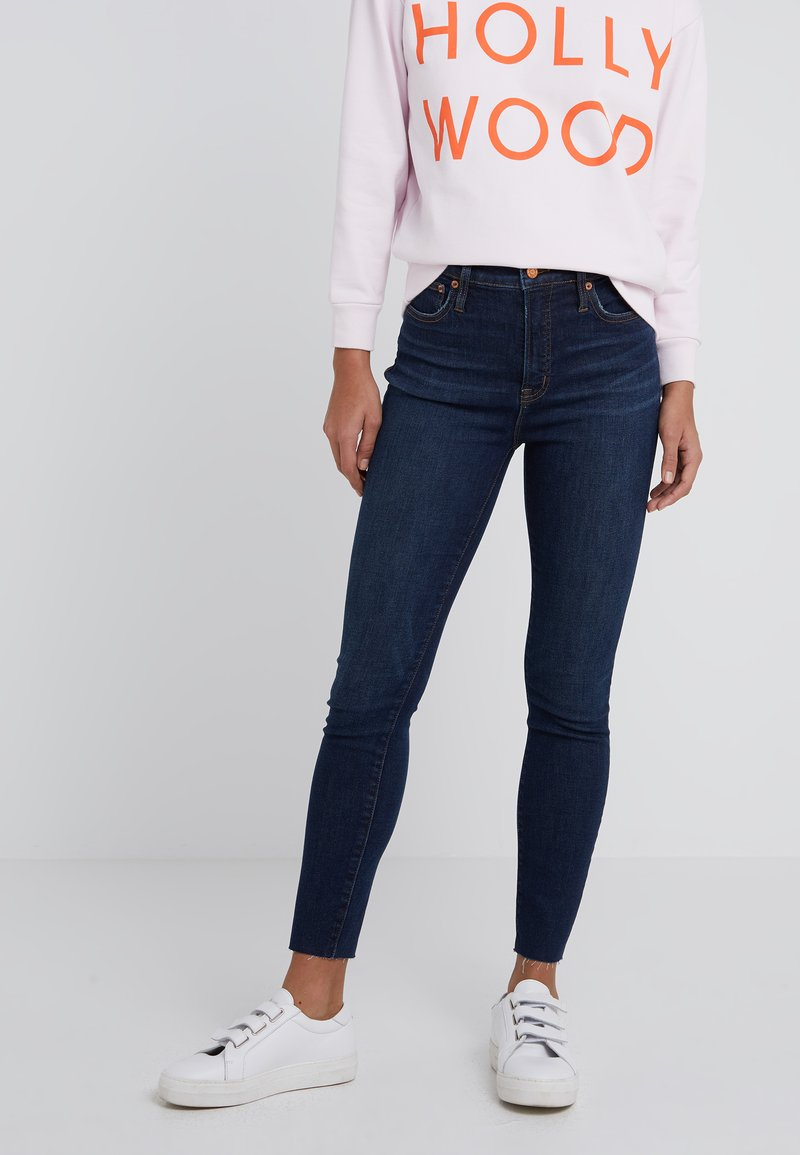 J.CREW - CURVY JEAN IN DARK WORN WASH - Slim fit jeans - dark worn
