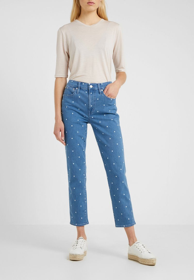 J.CREW - VINTAGE WITH DISCHARGED DOT - Jeans Straight Leg - shale blue