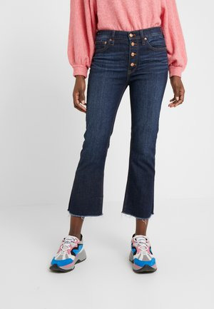 BILLIE DARK WORN WASH - Bootcut jeans - blue denim