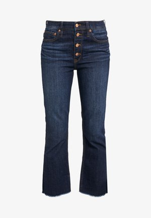 BILLIE DARK WORN WASH - Bootcut jeans - blue denim
