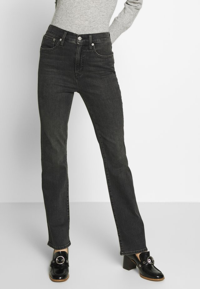 Flared jeans - clean washed black