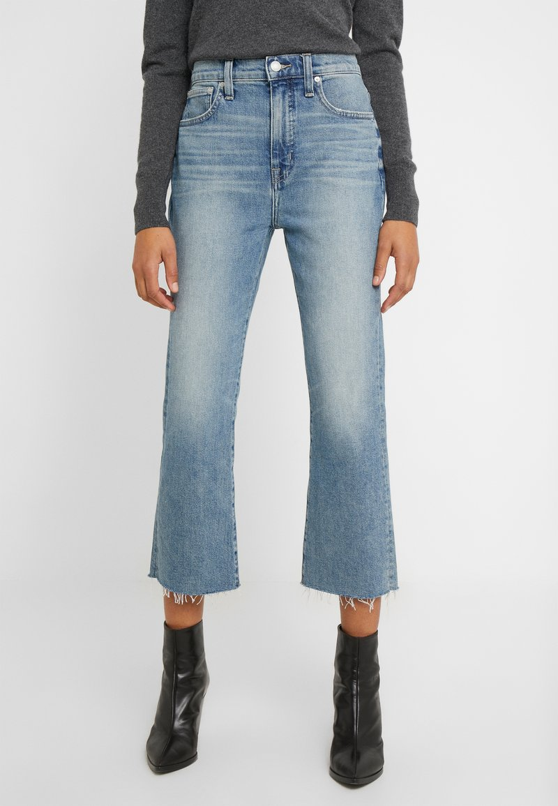 J.CREW - POINT SUR KICKOUT CROP  - Flared jeans - faded blue wash