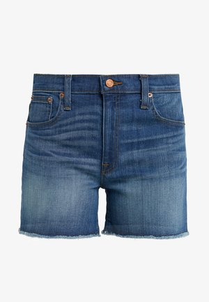 MID RISE CUT OFF MERILL  - Farkkushortsit - blue denim